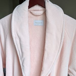 New Frette light peach pink cotton Robe L